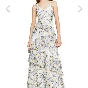 BCBG Maxazria Amur Asymmetrical ruffle dress